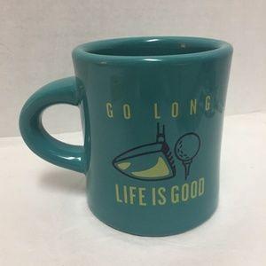 Life is Good Go Long Golf Mug